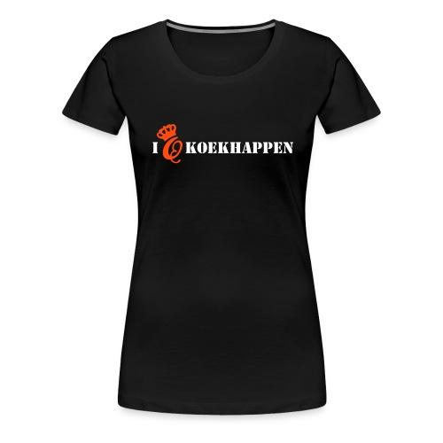 Q-day koekhappen - Vrouwen Premium T-shirt