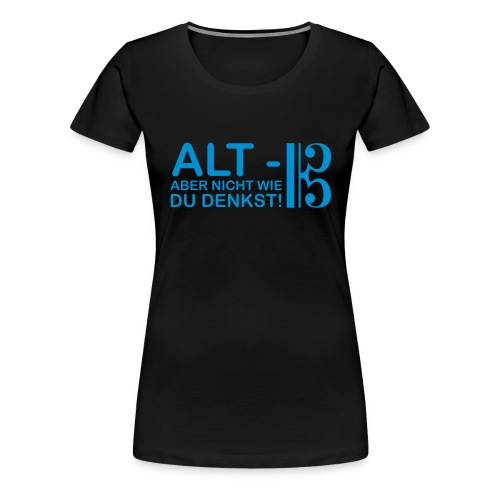 Alt Vektor - Frauen Premium T-Shirt