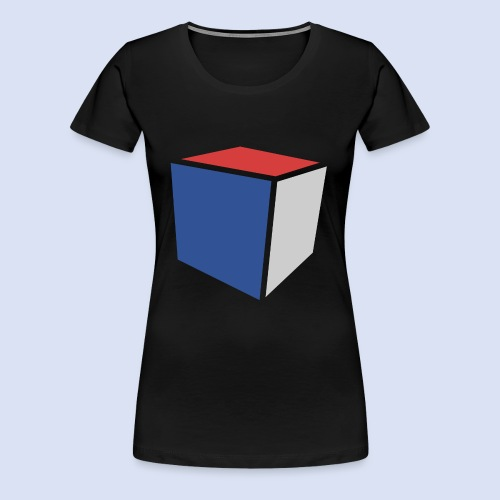 Cube Minimaliste - T-shirt Premium Femme