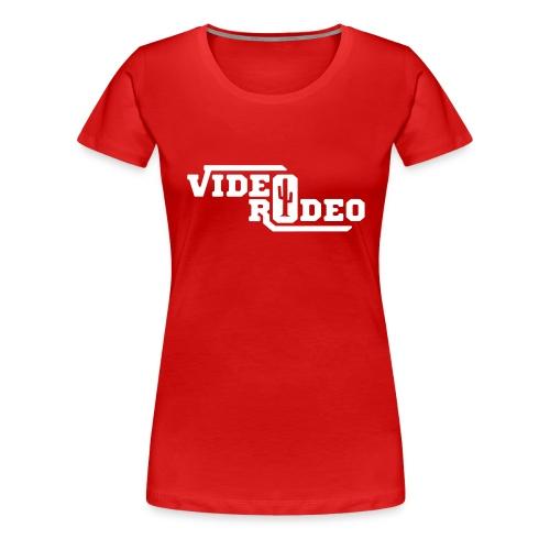 VIDEO RODEO Logo - Frauen Premium T-Shirt