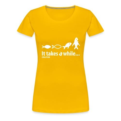 Evolution   Wit   M - Vrouwen Premium T-shirt