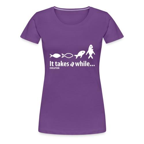 Evolution | Wit | M - Vrouwen Premium T-shirt