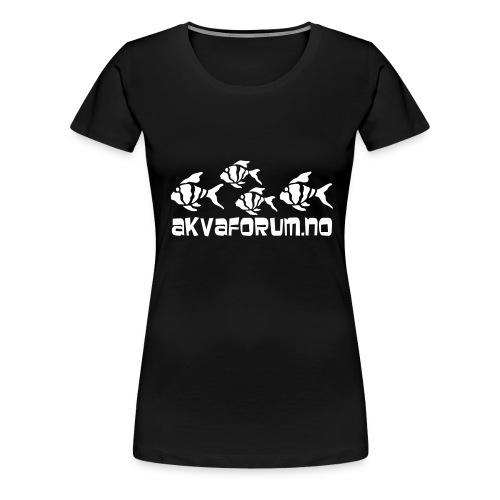 Akvaforumlogo m fisk flock - Premium T-skjorte for kvinner