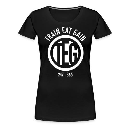 Train Eat Gain Circle - Women's Premium T-Shirt
