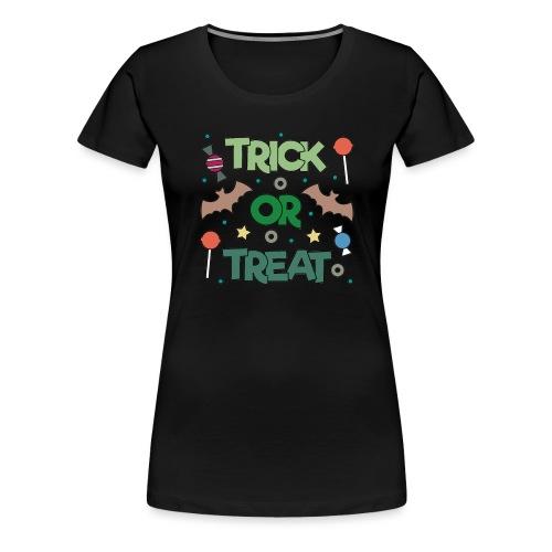 Süßes oder Saures, Halloween, Fledermaus - Frauen Premium T-Shirt