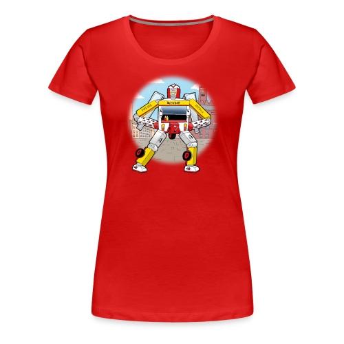 Pølsevogn transformer - Dame premium T-shirt