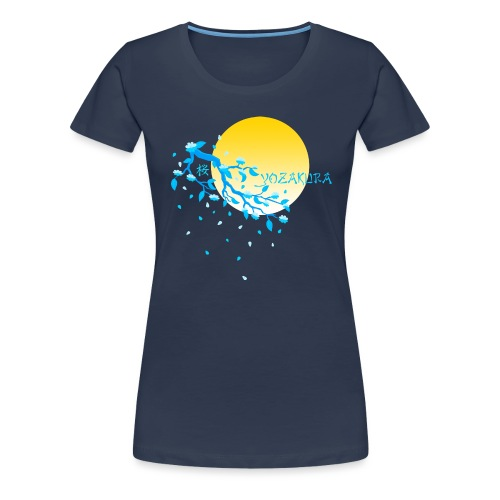 Cherry Blossom Festval Full Moon 2 - Frauen Premium T-Shirt