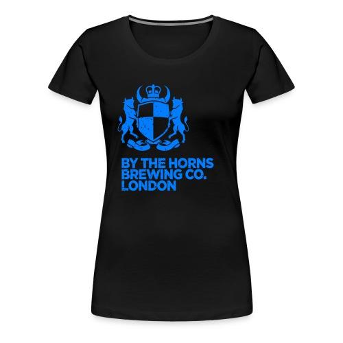 BTH Logo Textured ElectricBlue png - Women's Premium T-Shirt