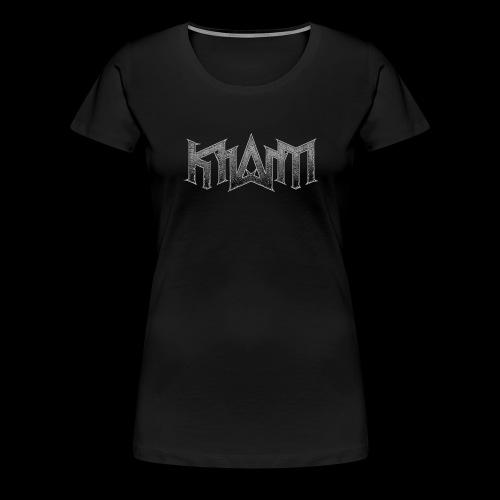 khasm logo + Wolf on back - T-shirt Premium Femme