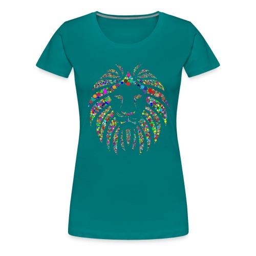 Ausdruck des Löwen - Frauen Premium T-Shirt
