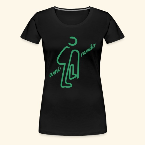 Amirando19 vert bleu - T-shirt Premium Femme
