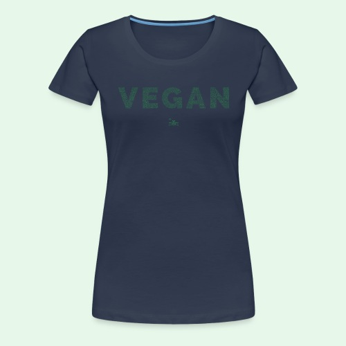 Vegan - Green - Premium-T-shirt dam