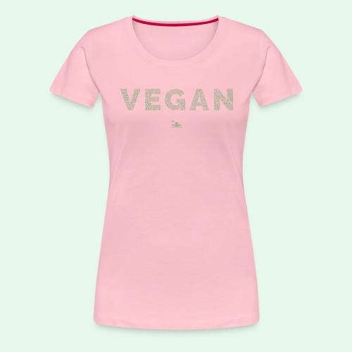 Vegan - Green - Premium-T-shirt dam