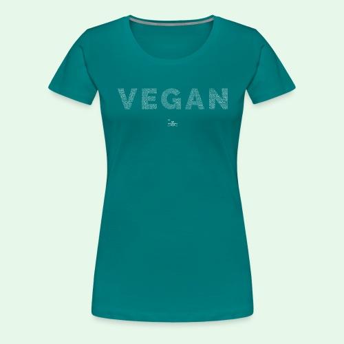 Vegan - White - Premium-T-shirt dam