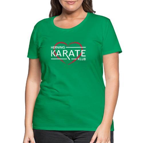 HKK Hjerte Hvid - Dame premium T-shirt