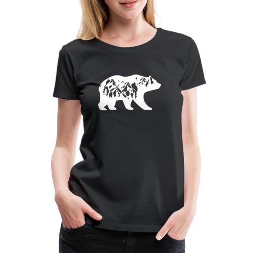 Bär Bären Natur Wildnis Mutternatur Leben Wandern - Frauen Premium T-Shirt