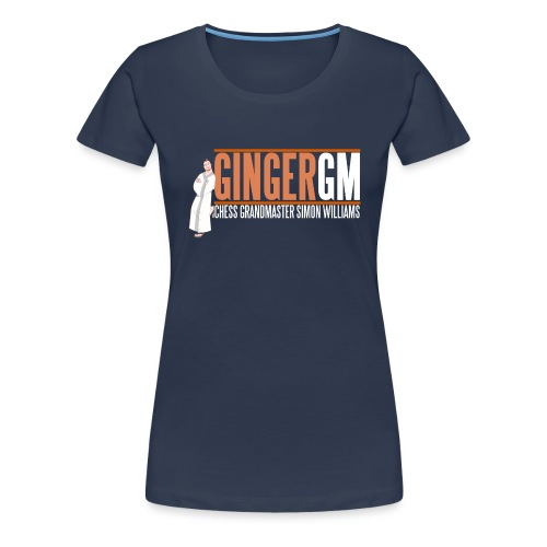 Ginger GM White Logo - Women's Premium T-Shirt