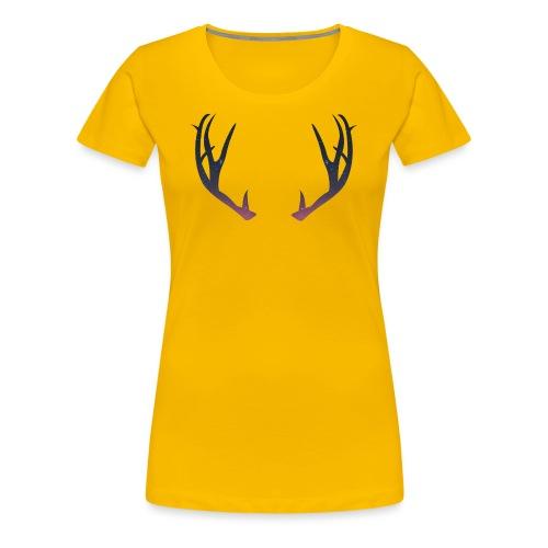 Poronsarvet - Naisten premium t-paita