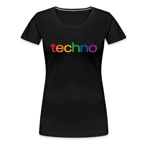 Rainbow of techno - Women's Premium T-Shirt