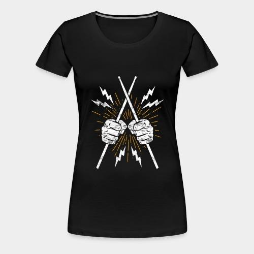 Drummer Schlagzeuger Sticks - Frauen Premium T-Shirt