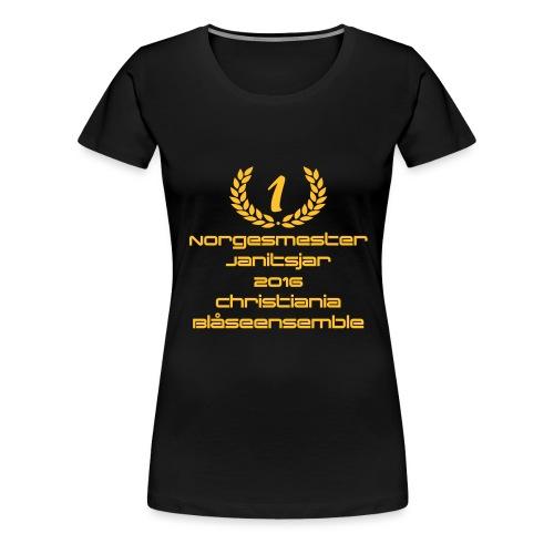 Norgesmester Janitsjarkor - Premium T-skjorte for kvinner