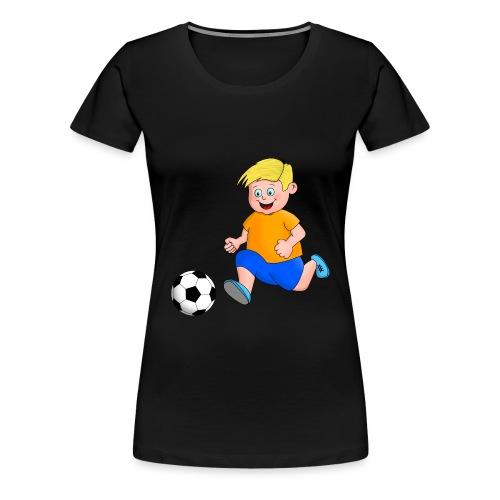 Junger Fußballer - Frauen Premium T-Shirt