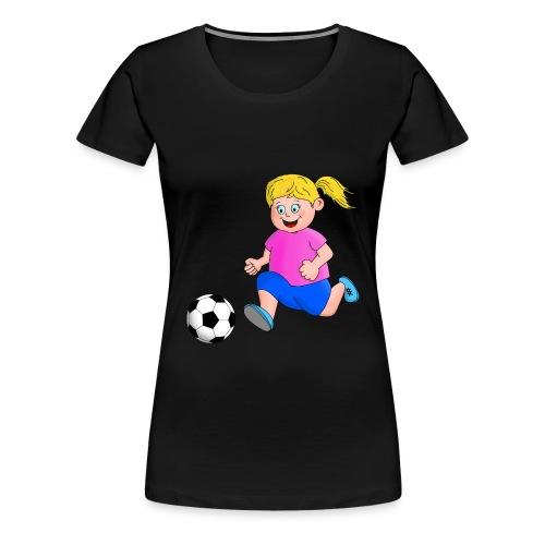 Fußball Mädchen - Frauen Premium T-Shirt
