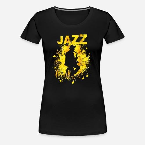 Jazz Saxophonist - Frauen Premium T-Shirt
