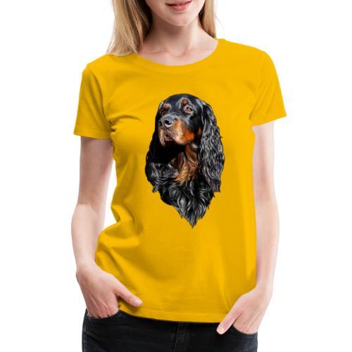 Gordon Setter Portrait - Naisten premium t-paita