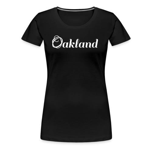 Oakland | Logo | Vit - Premium-T-shirt dam