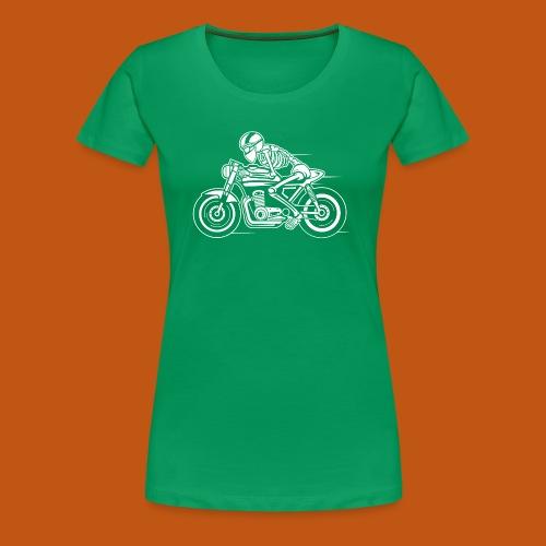 Cafe Racer Motorrad 05_weiß - Frauen Premium T-Shirt