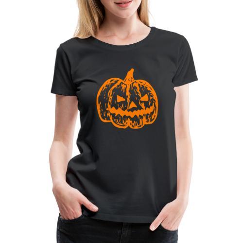 Halloween Kürbis - Frauen Premium T-Shirt