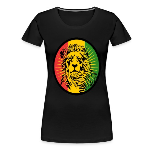 Lion Art flag Dreadlock Rastafari for Rasta lover - T-shirt Premium Femme