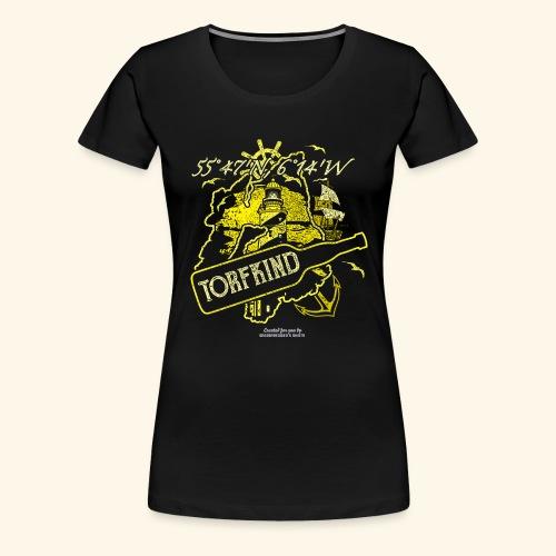 Whisky T Shirt Design Torfkind für Islay Fans - Frauen Premium T-Shirt