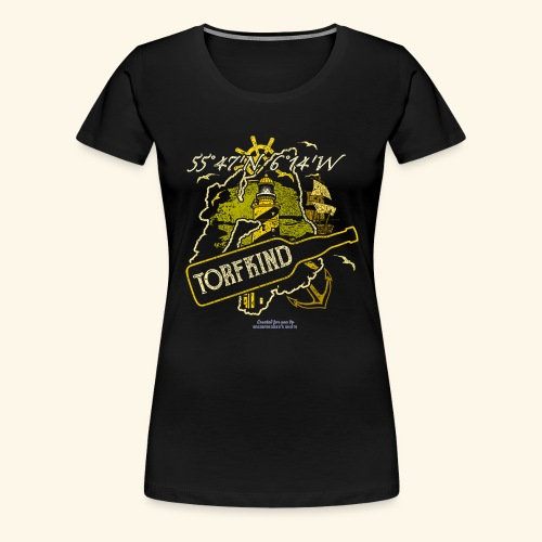 Whisky T Shirt Design Islay Single Malt Peat Torf - Frauen Premium T-Shirt