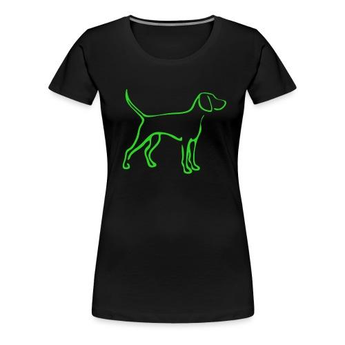 weimaranersdkgruen - Frauen Premium T-Shirt