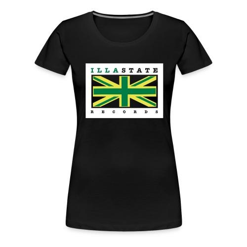 Illastate logo 3spots BlackTee - Women's Premium T-Shirt