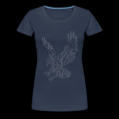 Circuit eagle White - Dame premium T-shirt