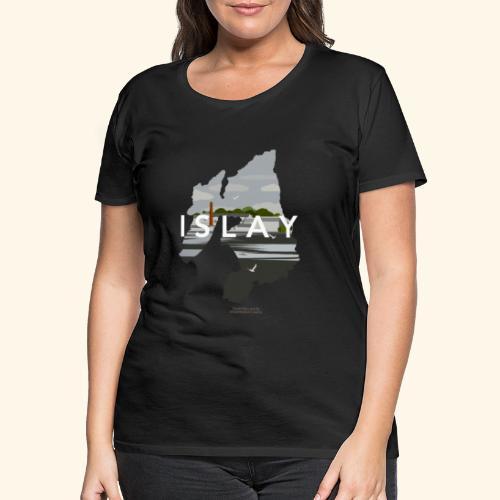 Islay Vintage Travel Poster - Frauen Premium T-Shirt