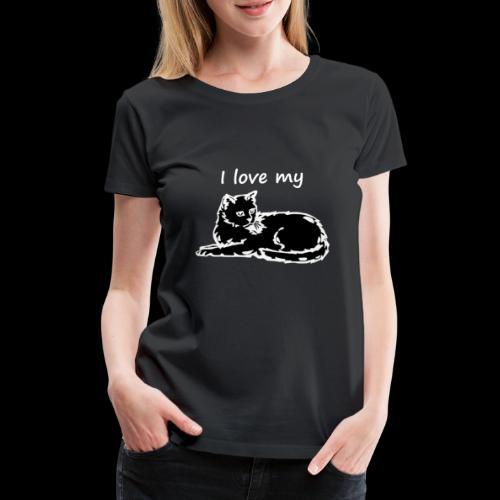katzelove png - Frauen Premium T-Shirt