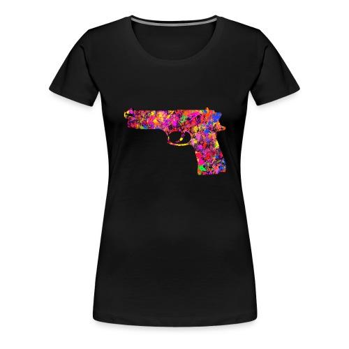 painted gun4 - Premium-T-shirt dam