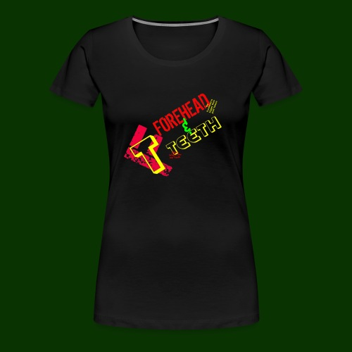 forehead and teeth full design - Women's Premium T-Shirt