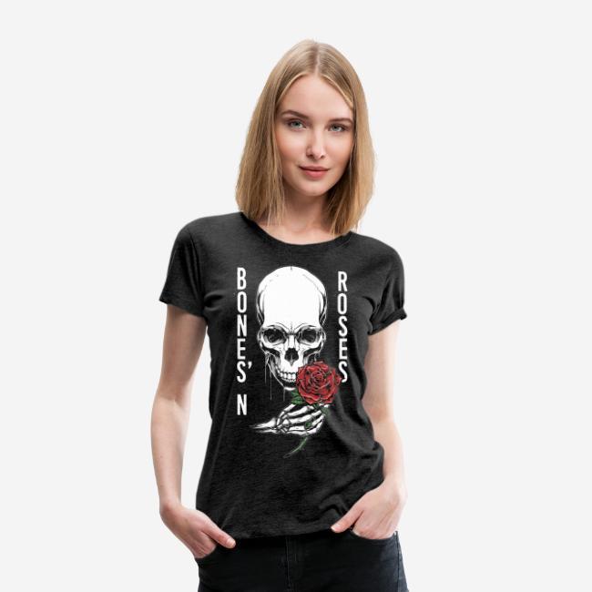 Knochen Rosen Schädel