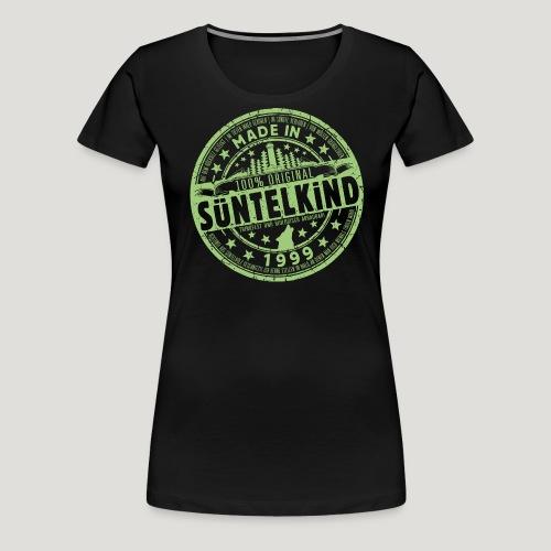 SÜNTELKIND 1999 - Das Süntel Shirt mit Süntelturm - Frauen Premium T-Shirt