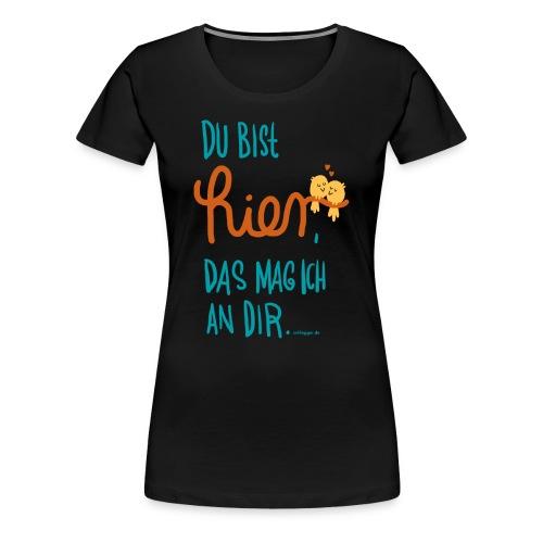 Ich mag dich (blau) - Frauen Premium T-Shirt