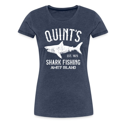 Quint's Shark Fishing Charters - Amity Island 1975 - Women's Premium T-Shirt