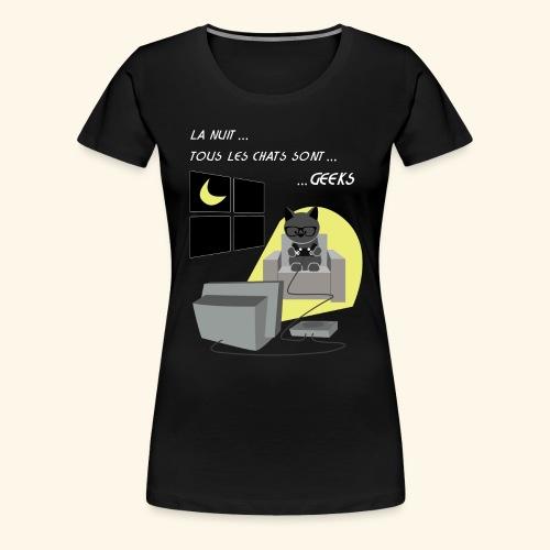 chats geeks - T-shirt Premium Femme