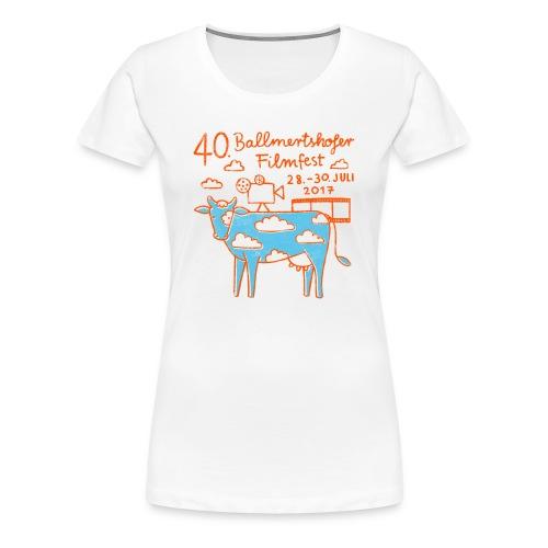 170415 B Filmfest Kuh rote Schrift png - Frauen Premium T-Shirt