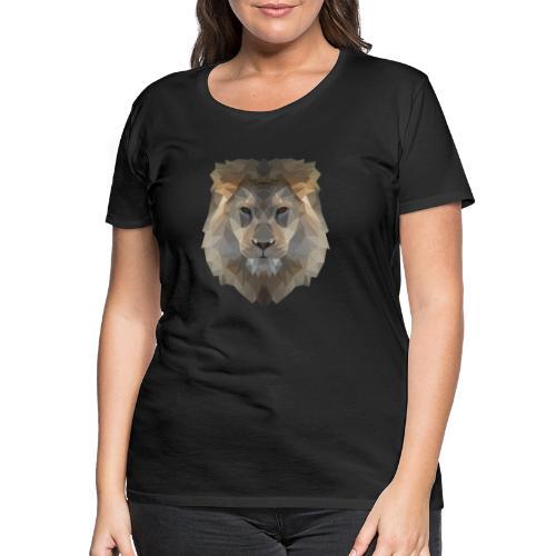 Lion head only - Frauen Premium T-Shirt