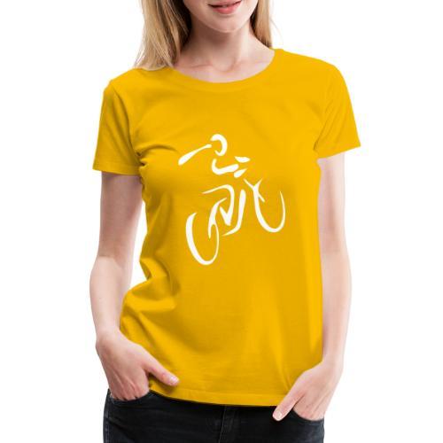 Fahrrad Fahrradfahren Fahrer Rad Fahrradfahrer - Frauen Premium T-Shirt